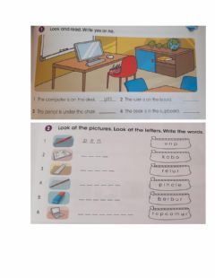 Interactive worksheet School Objects Revision