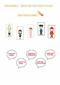 Interactive worksheet Chlidren 2 Lesson 32 What do you want to be