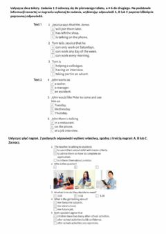 Interactive worksheet Reading and listening