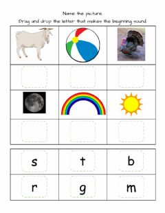 Ficha interactiva Beginning Sounds Match-1