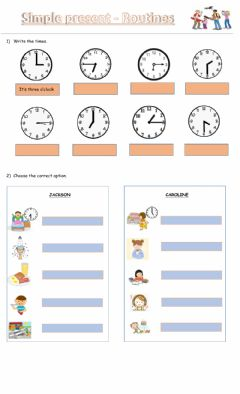 Interactive worksheet Routines