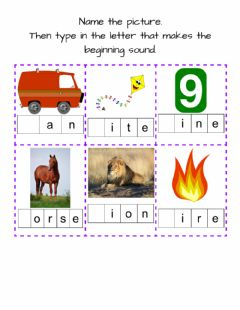 Ficha interactiva Beginning Sounds-2