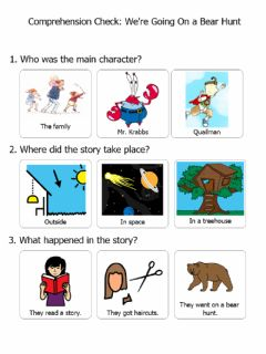 Interactive worksheet We're Going On a Bear Hunt Comp Check