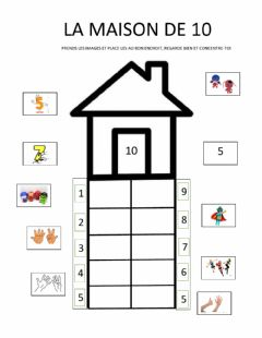 Interactive worksheet La maison de 10