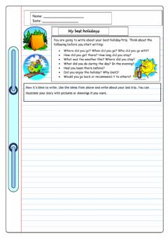 Interactive worksheet Writing prompt