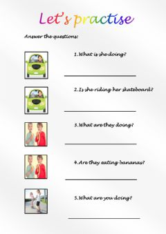 Interactive worksheet What are you doing? A