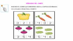 Interactive worksheet Verduras del campo