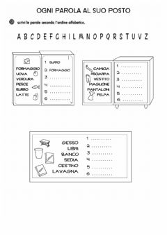 Interactive worksheet 6 - 11- parole dell'Armadio