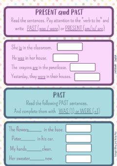 Interactive worksheet Past and present