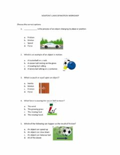 Interactive worksheet Newton's laws of motion