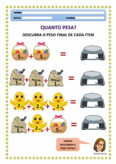 Interactive worksheet Quanto Pesa?