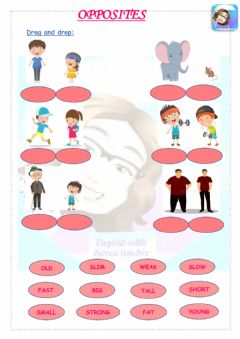 Ficha interactiva Grade 3-Unit 3-People I love-Opposites