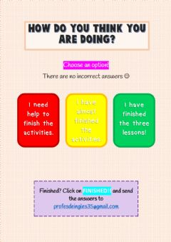 Interactive worksheet How I am doing...