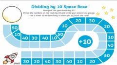Ficha interactiva Divide by 10