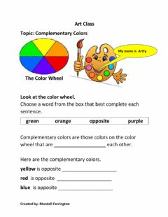 Interactive worksheet Complementary Colors