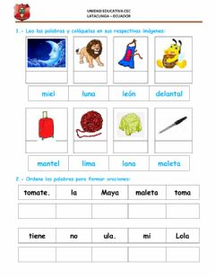 Interactive worksheet Fonema l