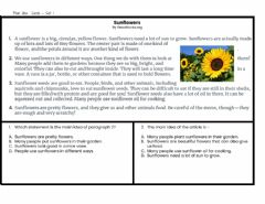 Interactive worksheet Main Idea Task Cards Set 1