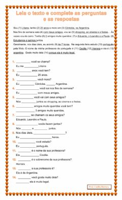 Interactive worksheet 2- A pergunta