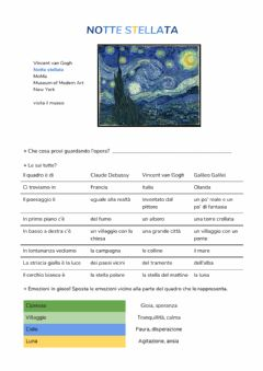Interactive worksheet Notte Stellata