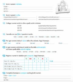 Interactive worksheet Numeri naturali