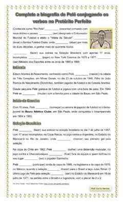 Interactive worksheet Biografia de Pelé