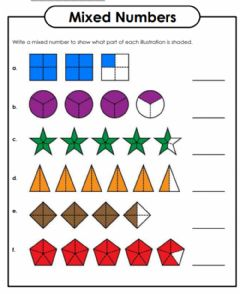 Interactive worksheet Mixed Numbers