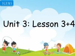 Interactive worksheet Unit 3-lesson 3,4