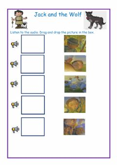 Interactive worksheet Jack and the Wolf