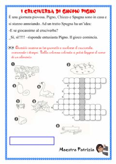 Interactive worksheet Cruciverba