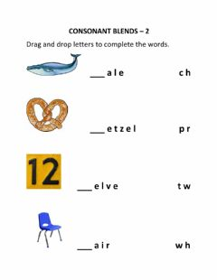 Interactive worksheet Consonant Blends - 2