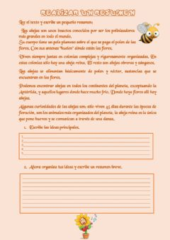 Interactive worksheet Realizar un resumen