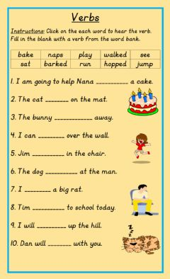 Action Verbs Worksheets And Online Exercises