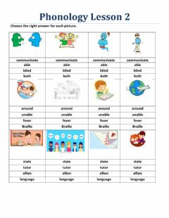 Interactive worksheet Phonology Lesson 2 Book 2