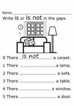 Interactive worksheet There is-not