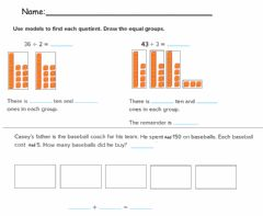 Interactive worksheet Use Place Value to Divide