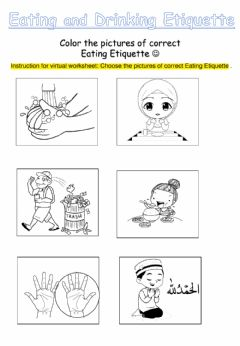 Ficha interactiva Eating Etiquette