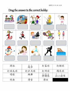 Interactive worksheet 爱好