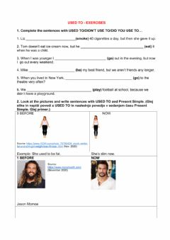 Interactive worksheet Used to - exercises