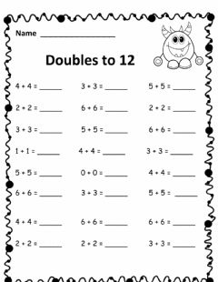 Interactive worksheet Use doubles to add