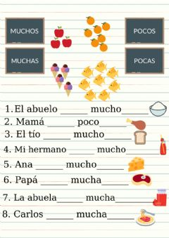 Interactive worksheet Alimentos