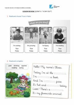 Interactive worksheet A day out 3
