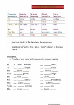 Interactive worksheet Pronomes possessivos