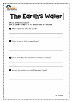Interactive worksheet Fresh Water