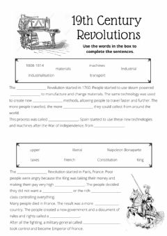 Interactive worksheet Industrial and French Revolutions