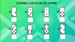 Interactive worksheet Sumando con dominós