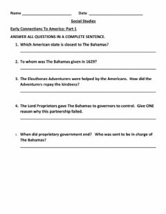 Interactive worksheet Early Connections With America