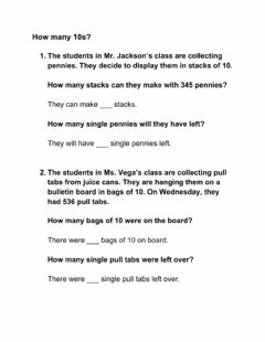 Interactive worksheet How many 10s?