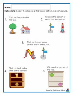 Interactive worksheet Top and Bottom