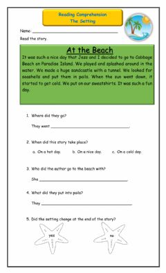Interactive worksheet The Setting