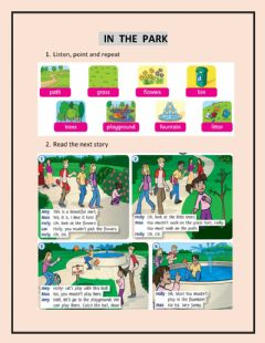 Ficha interactiva In the park
